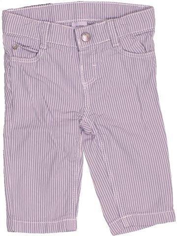 Pantalón niño PETIT BATEAU violeta 3 meses verano #1502907_1