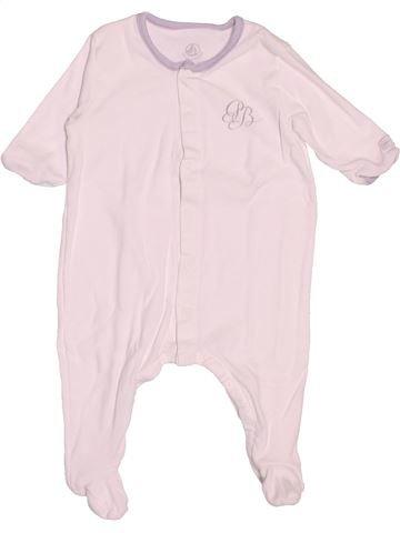 Pyjama 1 pièce garçon PETIT BATEAU blanc 3 mois été #1502913_1