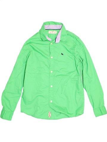 Chemise manches longues garçon H&M vert 13 ans hiver #1503121_1