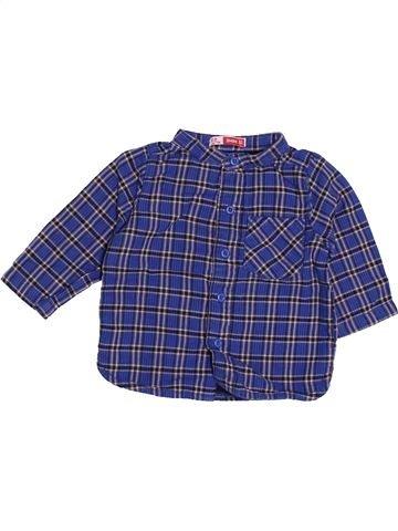 Chemise manches longues garçon DPAM bleu 3 mois hiver #1504404_1