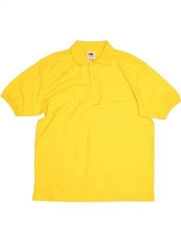 Polo manches courtes garçon FRUIT OF THE LOOM jaune 13 ans été #1504515_1