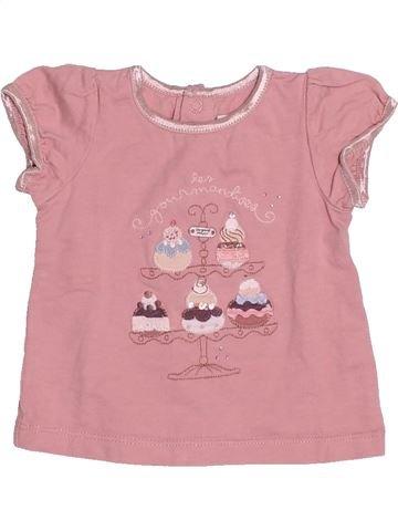 T-shirt manches courtes fille SERGENT MAJOR rose 3 mois été #1505685_1