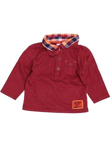 Polo manches longues garçon OKAIDI violet 12 mois hiver #1505873_1