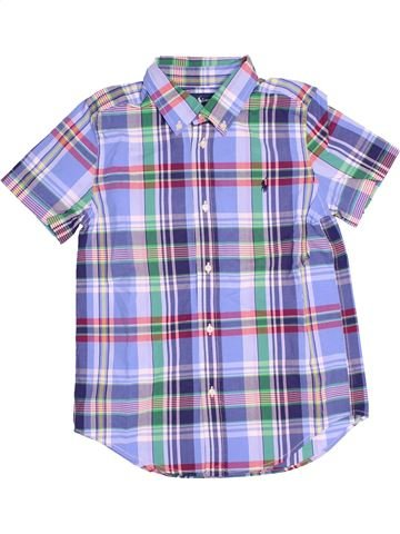 Chemise manches courtes garçon RALPH LAUREN bleu 7 ans été #1505894_1