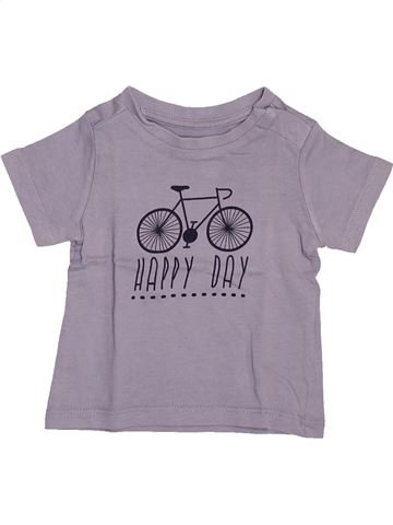 Camiseta de manga corta niño VERTBAUDET gris 3 meses verano #1506143_1