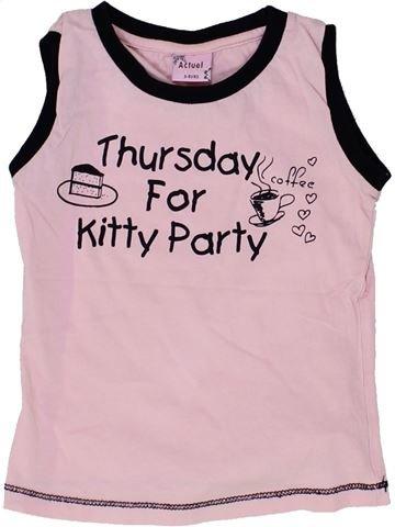 T-shirt sans manches fille ACTUEL rose 4 ans été #1506428_1