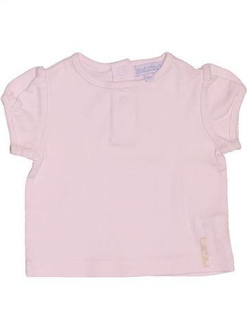 T-shirt manches courtes fille BOUT'CHOU blanc 6 mois été #1507435_1