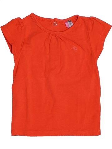 T-shirt manches courtes fille ORCHESTRA rouge 12 mois été #1507775_1