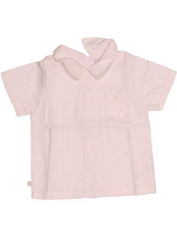 Chemise manches courtes garçon OKAIDI rose 6 mois été #1507881_1