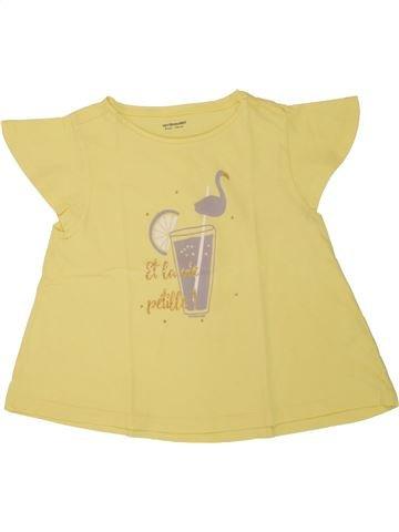 T-shirt manches courtes fille VERTBAUDET jaune 8 ans été #1507959_1