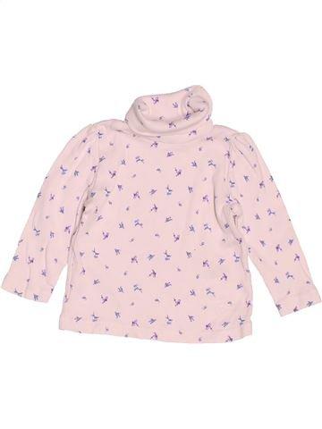T-shirt col roulé fille MATALAN blanc 3 mois hiver #1508224_1