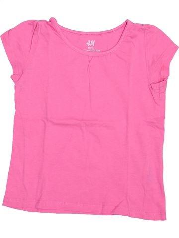Camiseta de manga corta niña H&M rosa 2 años verano #1508704_1