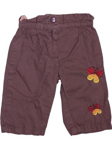 Pantalon fille DPAM violet 3 mois été #1508805_1