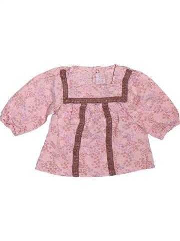Blusa de manga larga niña KIMBALOO rosa 3 meses invierno #1508895_1