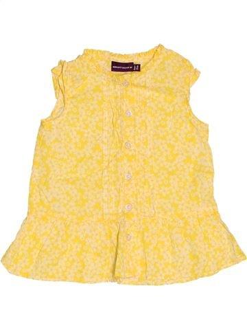 Blouse manches courtes fille SERGENT MAJOR jaune 12 mois été #1509398_1