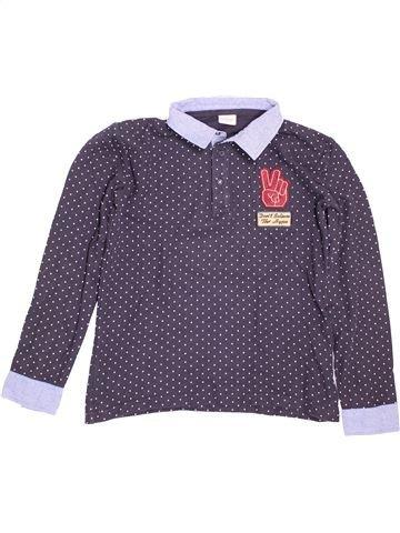 Polo manches longues garçon TAPE À L'OEIL violet 12 ans hiver #1509579_1