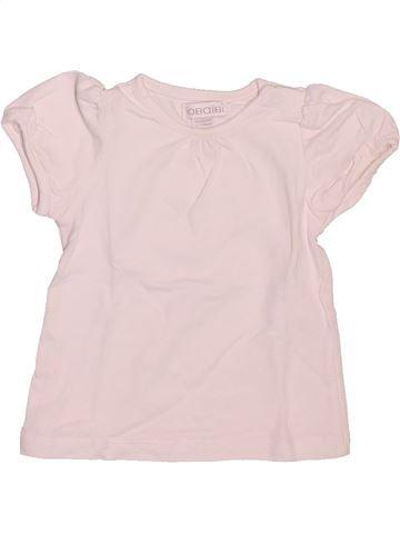 T-shirt manches courtes fille OKAIDI blanc 1 mois été #1509755_1