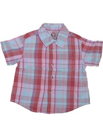 Chemise manches courtes garçon DPAM violet 12 mois été #1510020_1