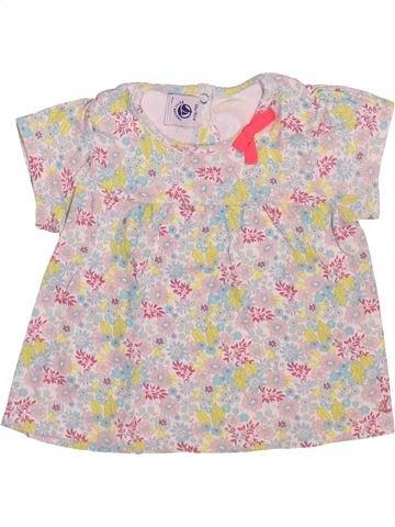 T-shirt manches courtes fille PETIT BATEAU rose 18 mois été #1510155_1