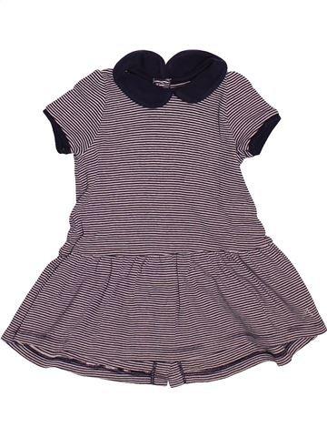 Robe fille PETIT BATEAU violet 12 mois été #1510169_1