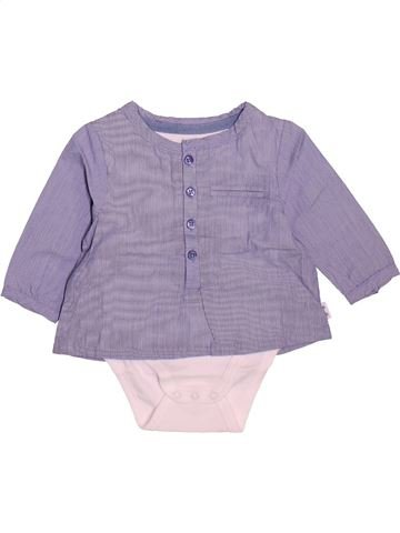 Blusa de manga larga niña VERTBAUDET gris 3 meses invierno #1510499_1