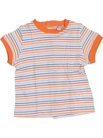 T-shirt manches courtes garçon KIMBALOO blanc 6 mois été #1510671_1