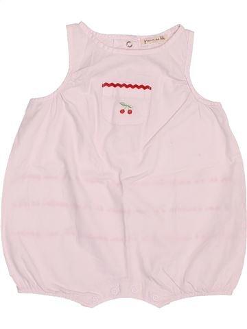 Combinación corta niña GRAIN DE BLÉ rosa 3 meses verano #1511414_1