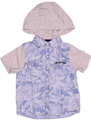 Chemise manches courtes garçon ORCHESTRA violet 4 ans été #1511600_1