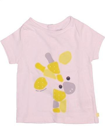 T-shirt manches courtes garçon OBAIBI rose 6 mois été #1511907_1