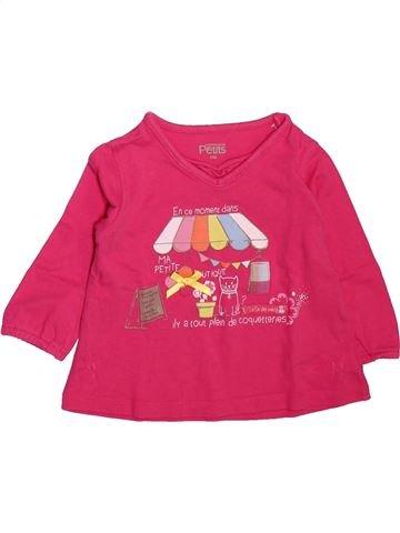 T-shirt manches longues fille LA COMPAGNIE DES PETITS rose 12 mois hiver #1512099_1