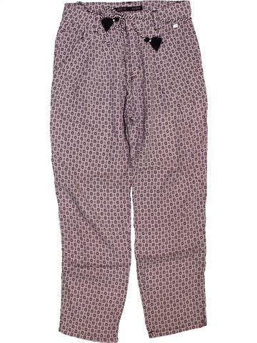 Pantalon fille IKKS violet 8 ans été #1512172_1