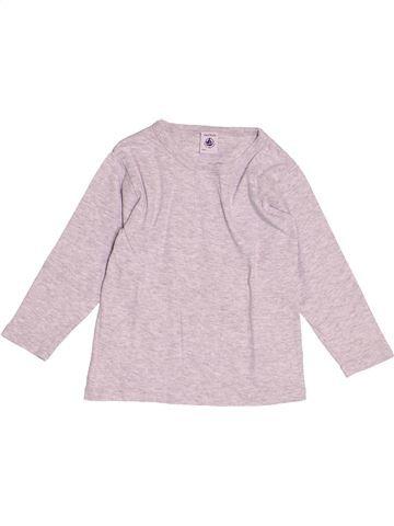 T-shirt manches longues garçon PETIT BATEAU rose 4 ans hiver #1512513_1
