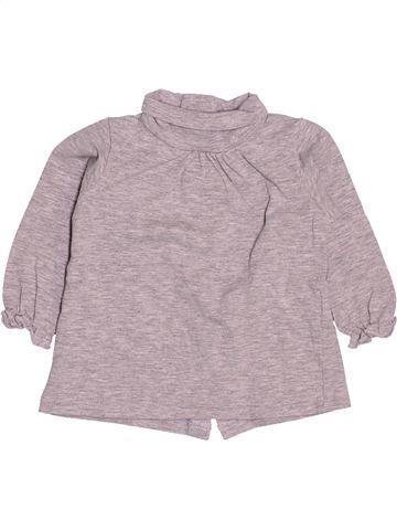 T-shirt col roulé fille VERTBAUDET gris 6 mois hiver #1513312_1