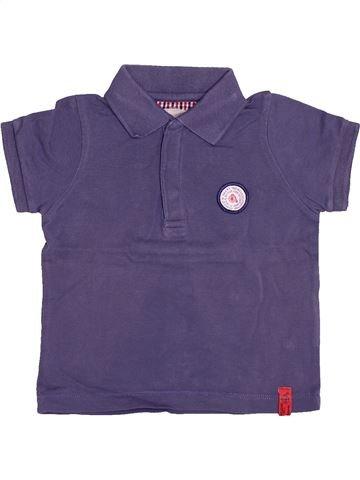 Polo manches courtes garçon JODHPUR violet 12 mois été #1513698_1
