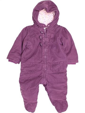 Combinaison longue fille OKAIDI violet 12 mois hiver #1514063_1