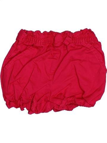 Short - Bermuda fille DPAM rouge 6 mois été #1515172_1