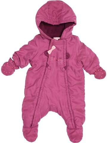 Combi-Pilote fille DPAM rose 3 mois hiver #1515270_1