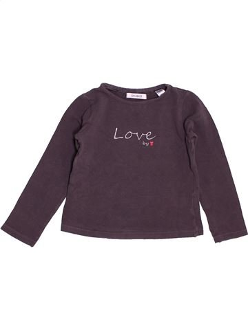 T-shirt manches longues fille OKAIDI violet 4 ans hiver #1515432_1