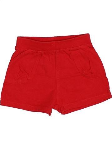 Short - Bermuda garçon OKAIDI rouge 12 mois été #1515565_1