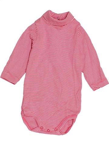 T-shirt col roulé fille PETIT BATEAU rose 6 mois hiver #1515938_1