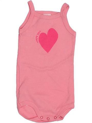 T-shirt sans manches fille PETIT BATEAU rose 6 mois été #1515939_1