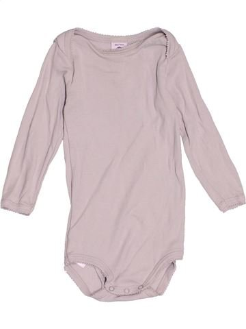 T-shirt manches longues fille PETIT BATEAU rose 12 mois hiver #1515964_1