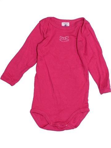 T-shirt manches longues fille PETIT BATEAU rose 6 mois hiver #1515972_1