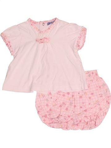 Pyjama 2 pièces fille OKAIDI rose 3 mois été #1517157_1