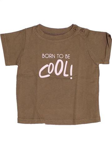 T-shirt manches courtes garçon TAPE À L'OEIL marron 9 mois été #1517738_1