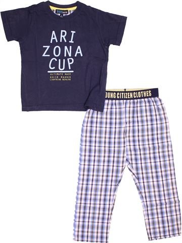 Pyjama 2 pièces garçon YCC bleu 4 ans été #1517775_1