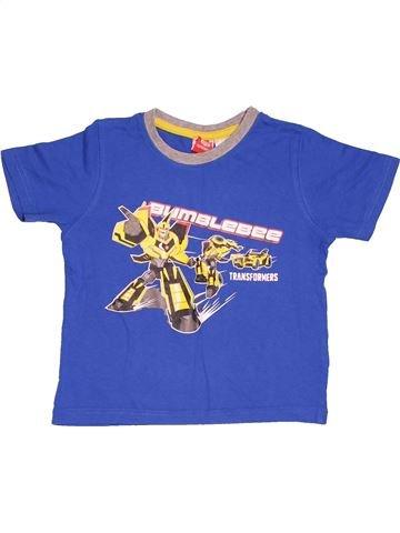 T-shirt manches longues garçon TRANSFORMERS bleu 4 ans été #1518596_1