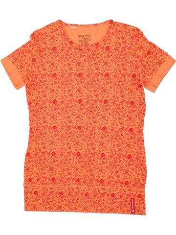 T-shirt manches courtes fille QUECHUA orange 14 ans été #1518681_1