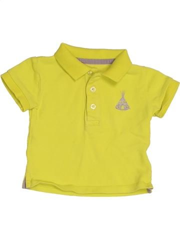 Polo manches courtes garçon KIABI jaune 6 mois été #1519003_1