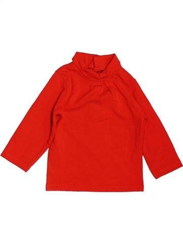 T-shirt col roulé fille KIABI rouge 6 mois hiver #1519198_1